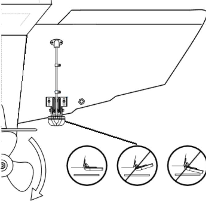 Hækmonteret transducer