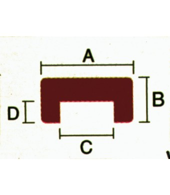 TEAK U-PROFIL B24XH12XB10D7MM