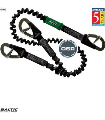 Livline 3 krog elastisk Sort BALTIC 0106
