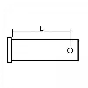Splitbolt m/knæklås, 6,4x19mm