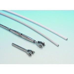 Livline 6mm, plastbetrukken 4mm wire uden endebeslag