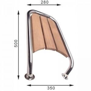 STÆVNPLATFORM 350 x 500/ Ø32mm