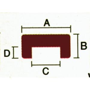 TEAK U-PROFIL B28XH12XB16D7MM