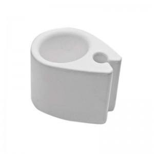 FLASKE/GLASHOLDER CLIP-ON HVID
