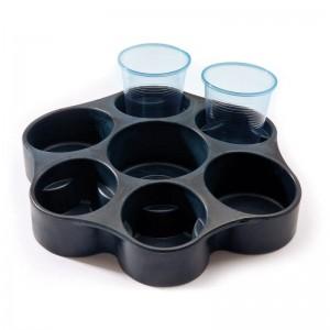 FLASKE/GLASHOLDER TIL 6 GLAS