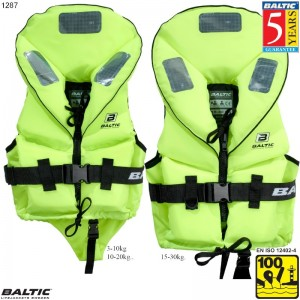 Pro Sailor rednings vest UV-Gul BALTIC 1287 Str:2/10-20