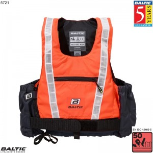 Hi-Vis Pro Jolle / Kajak vest UV-Orange/Grå BALTIC 5721 Str:1/XS_25-40