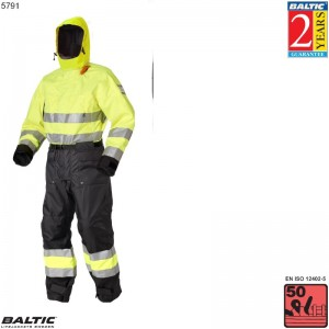 HiVis Flydedragt UV-Gul/Sort BALTIC 5791 Str:3/M_70-80